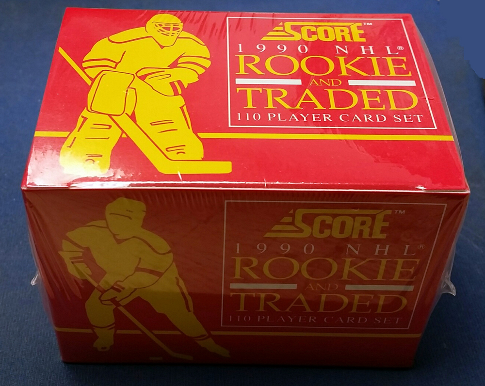 Factory Sealed 1990 Score Rookie & Traded 110 Player Hockey Card Set *Fedorov, Belfour Rookie Cards*