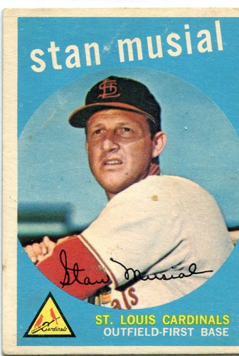 Photo of 1959 Topps #150 Stan Musial -- Hall of Famer