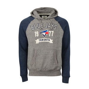 Toronto Blue Jays Colourblock Hoody Grey/Navy by Campus Crew