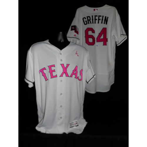 Photo of A.J. Griffin 2017 Game-Used Mother's Day Jersey