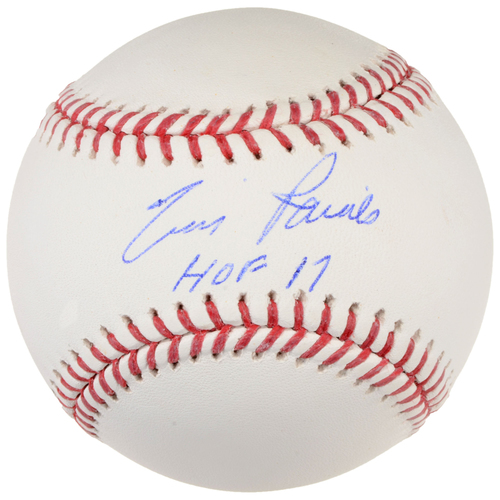 Photo of Tim Raines Montreal Expos Autographed Baseball with HOF 17 Inscription