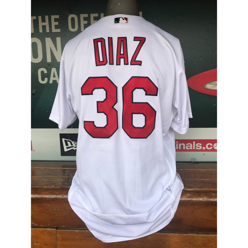 Cardinals Authentics: Aledmys Diaz Game-Used Home White Jersey