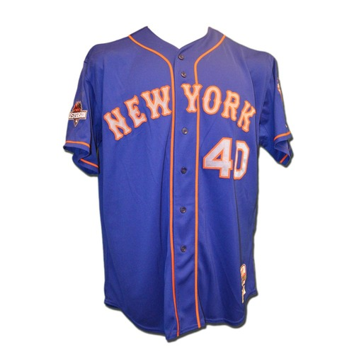 Photo of Bartolo Colon #40 - Game Used Blue Alt. Road Jersey - Features Postseason Patch, Authenticated During Regular Season - Mets vs. Phillies - 9/30/15 - JB065013