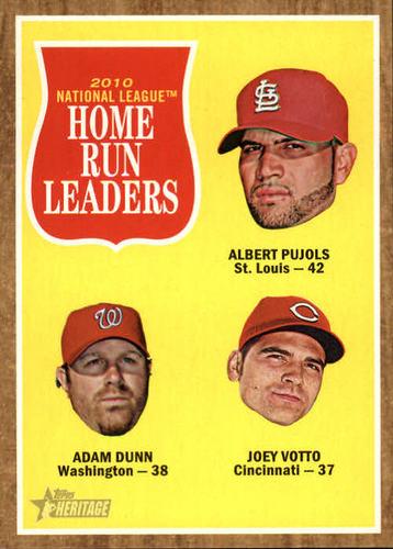 Photo of 2011 Topps Heritage #54 Albert Pujols/Adam Dunn/Joey Votto