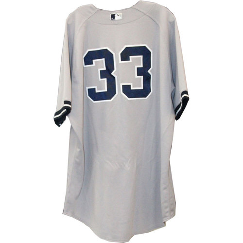 Photo of Travis Hafner Jersey - NY Yankees 2013 Game-Used #33 Grey Jersey (5/13/2013) (Size 52)