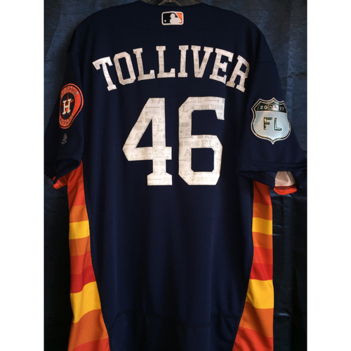Photo of #46 Ashur Tolliver Team-Issued 2017 Spring Training Jersey