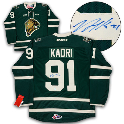 Nazem Kadri London Knights Autographed Green CCM CHL Replica Hockey Jersey