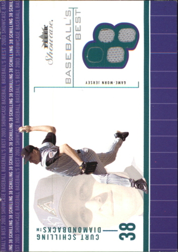 Photo of 2003 Fleer Showcase Baseball's Best Game Jersey #CS Curt Schilling