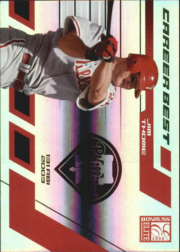 Photo of 2004 Donruss Elite Career Best #23 Jim Thome