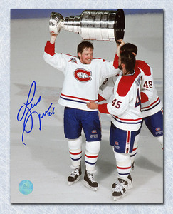 Gary Leeman Montreal Canadiens Autographed 1993 Stanley Cup 8x10 Photo