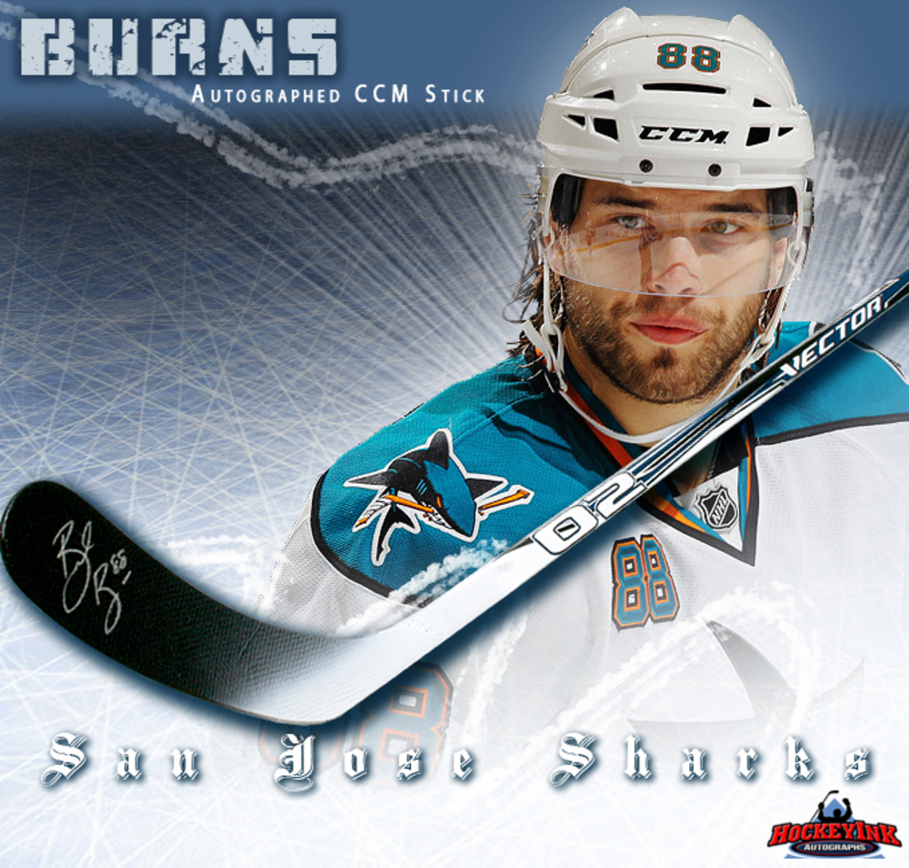 BRENT BURNS Signed CCM Vector Stick - San Jose Sharks