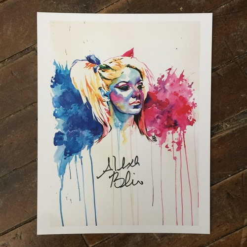 Photo of Alexa Bliss SIGNED 11 x 14 Rob Schamberger Print