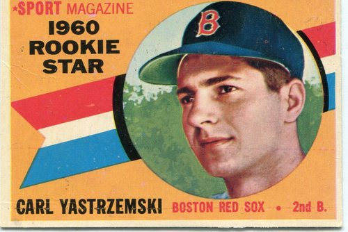 Photo of 1960 Topps #148 Carl Yastrzemski Rookie Card  -- Hall of Famer
