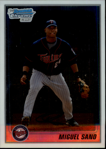 Photo of 2010 Bowman Chrome Prospects #BCP205A Miguel Sano -- Twins post-season