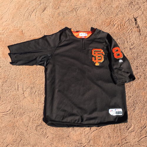 San Francisco Giants - 2017 Game-Used Batting Practice Jersey Worn by #8 Hunter Pence (Size: XL)