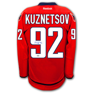 Evgeny Kuznetsov Washington Capitals RBK Premier Autographed Jersey