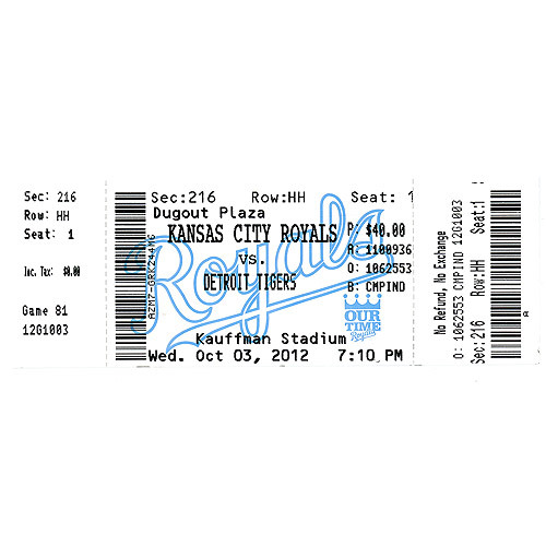 Photo of Detroit Tigers Triple Crown Ticket