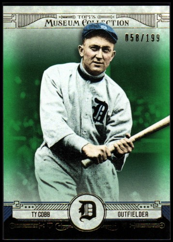 Photo of 2015 Topps Museum Collection Green #88 Ty Cobb