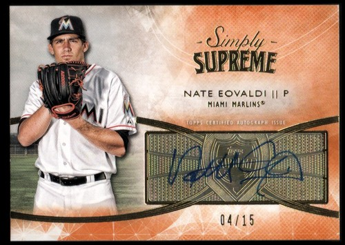 Photo of 2014 Topps Supreme Simply Supreme Autographs Orange #SSUNE Nate Eovaldi