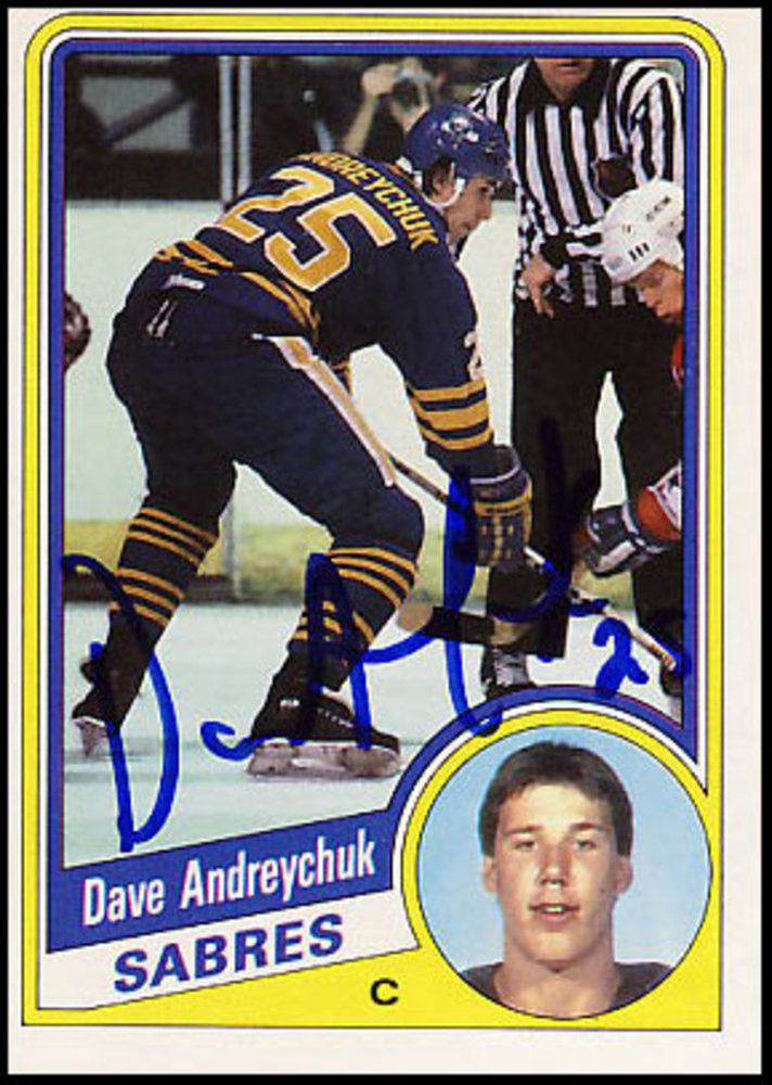 Dave Andreychuk Autographed 1984 O-Pee-Chee Rookie Card - Buffalo Sabres