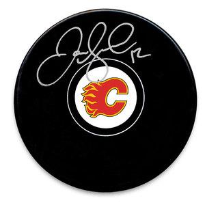Jarome Iginla Calgary Flames Autographed Puck
