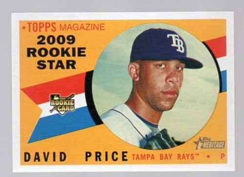 Photo of 2009 Topps Heritage #73 David Price Rookie Card -- Red Sox post-season