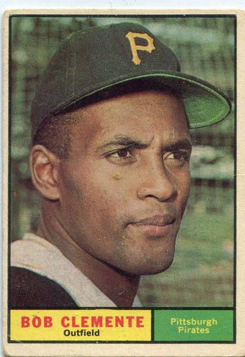 Photo of 1961 Topps #388 Roberto Clemente -- Hall of Famer