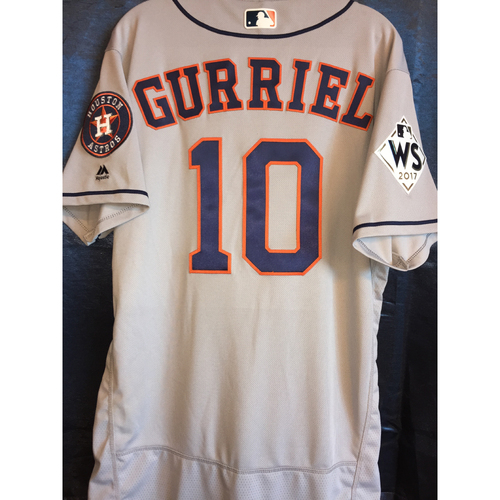 Photo of World Series Game 1 - Yuli Gurriel Game-Used Road Jersey