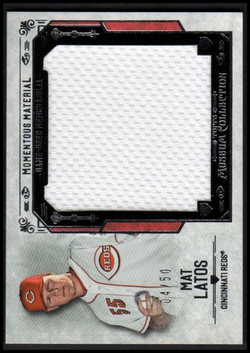 Photo of 2015 Topps Museum Collection Momentous Material Jumbo Relics #MMJRMLS Mat Latos
