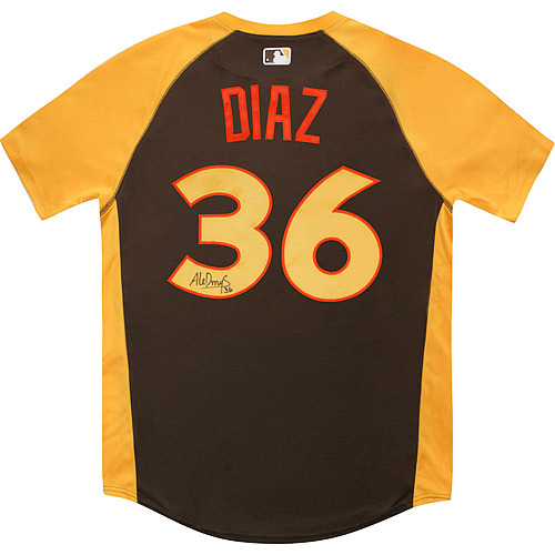 Photo of Aledmys Diaz 2016 Major League Baseball Workout Day/Home Run Derby Autographed Jersey