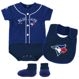 Newborn/Infant Tiny Player Bib And Bootie Set Royal by Majestic