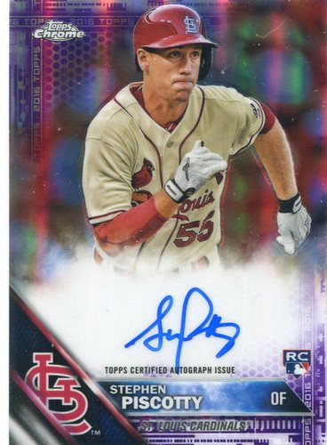 Photo of 2016 Topps Chrome Rookie Autographs Purple Refractors Stephen Piscotty 111/250