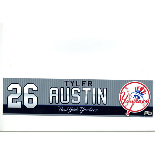 Tyler Austin New York Yankees 2016 Game-Used #26 Locker Room Nameplate (9/14/2016)