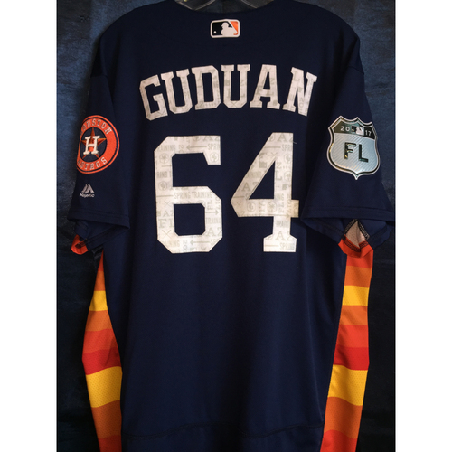 Photo of #64 Reymin Guduan Team-Issued 2017 Spring Training Jersey