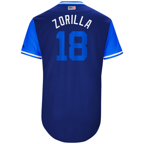 "Photo of Ben ""Zorilla"" Zobrist Chicago Cubs Game-Used Players Weekend Jersey"
