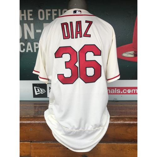 Photo of Cardinals Authentics: Aledmys Diaz Team-Issued Saturday Alternate Jersey
