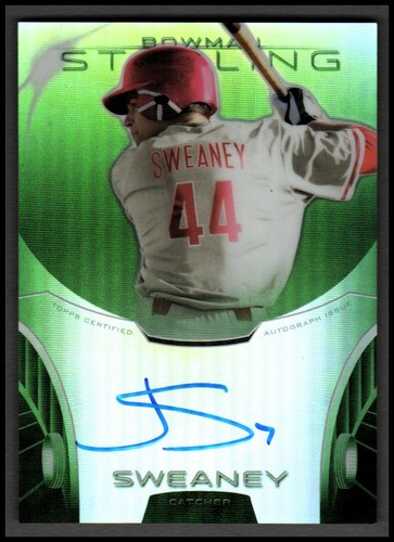 Photo of 2013 Bowman Sterling Prospect Autographs Green Refractors #JSW Jake Sweaney
