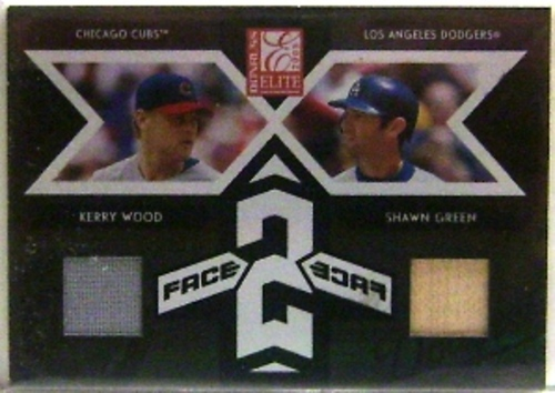 Photo of 2005 Donruss Elite Face 2 Face Combos #15 Kerry Wood Jsy/Shawn Green Bat/250