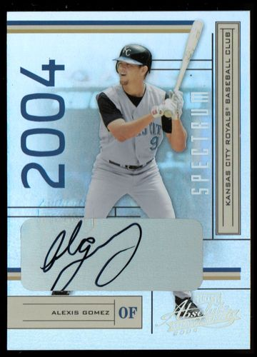 Photo of 2004 Absolute Memorabilia Signature Spectrum Silver #98 Alexis Gomez/250