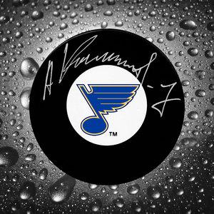 Alexei Kasatonov St. Louis Blues Autographed Puck