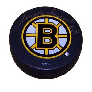 Woody Dumart (deceased)  Autographed Boston Bruins Puck