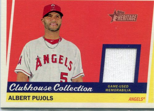 Photo of 2016 Topps Heritage Clubhouse Collection Relics  Albert Pujols game worn jersey