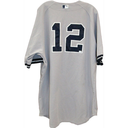 Photo of Vernon Wells Jersey - NY Yankees 2013 Game-Used #12 Grey Jersey (4/21/2013) (Size 50)