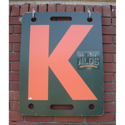 Photo of San Francisco Giants - NLDS Game 3 & 4 - Orange K Board