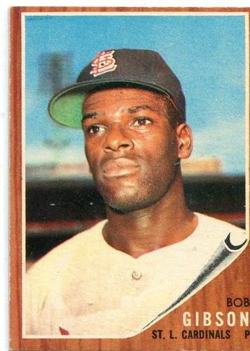 Photo of 1962 Topps #530 Bob Gibson  -- Hall of Famer