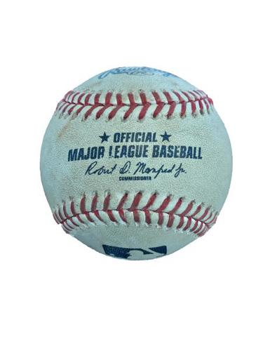Photo of Game-Used Baseball from Pirates vs. Cubs on 4/24/17 - Kuhl to Schwarber, 2 Pitches Ending in a Foul Ball