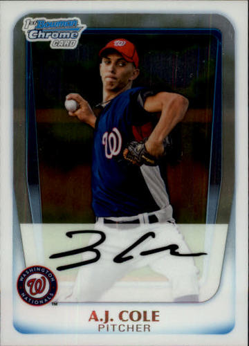 Photo of 2011 Bowman Chrome Prospects #BCP160 A.J. Cole -- Nationals post-season