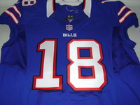BILLS - PERCY HARVIN SIGNED AUTHENTIC BILLS JERSEY - SIZE 52
