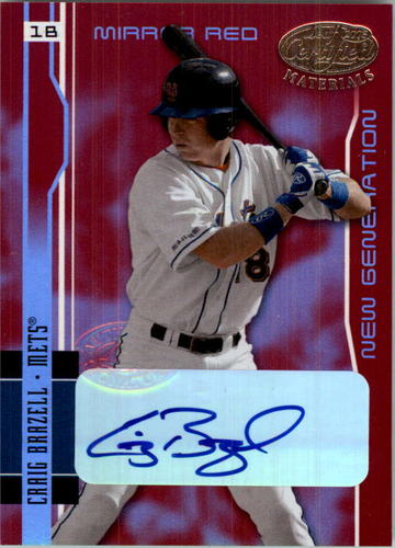 Photo of 2003 Leaf Certified Materials Mirror Red Autographs #207 Craig Brazell NG/100