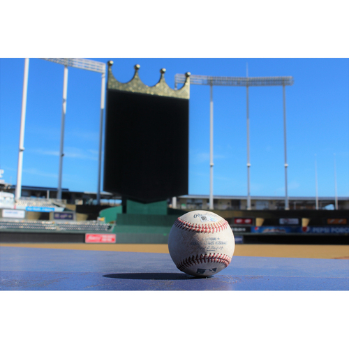Photo of Game-Used Baseball: Morales SGL - September 27, 2016 (MIN at KC)